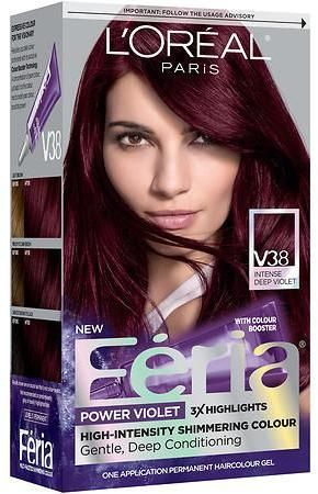 L Oreal Feria Power Violet Permanent Haircolor With Images