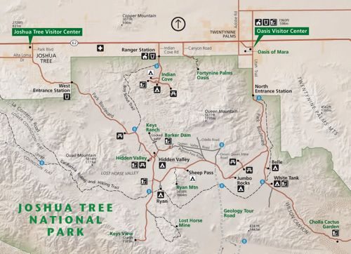 joshua tree national park map Google Search Maps Pinterest