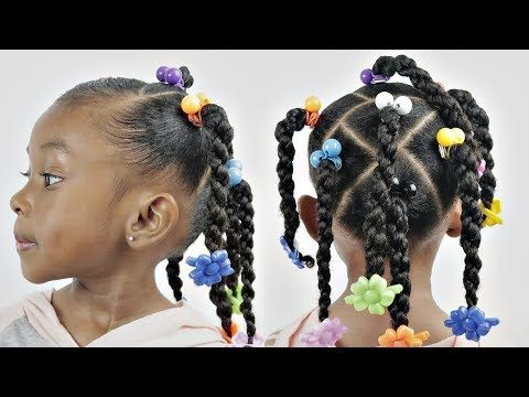 Cubic Twist Kids Natural Hairstyle Youtube Black Hair