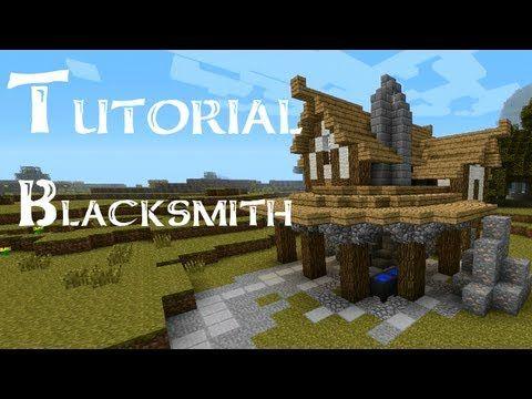 Minecraft Tutorial: How to build a medieval blacksmith - YouTube