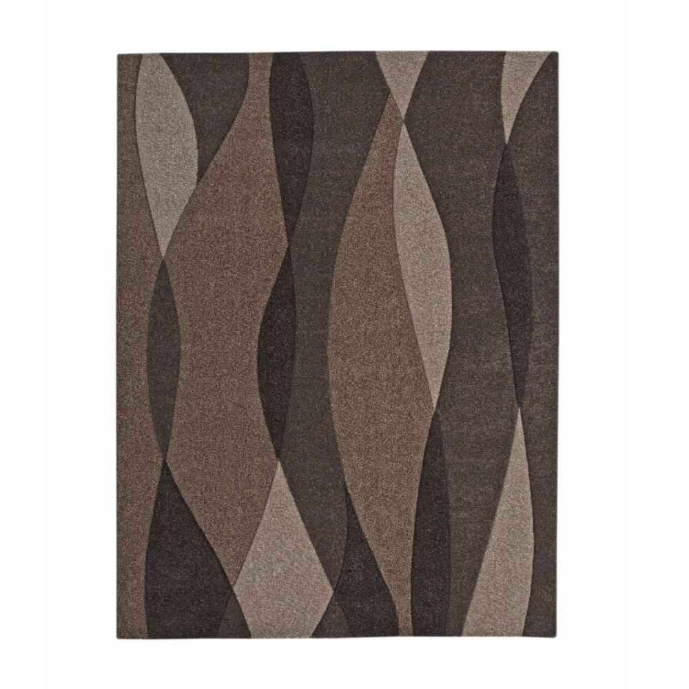 Sedona Waves Brown 8 Ft X 10 Ft Area Rug 2401 8x10 Area Rugs