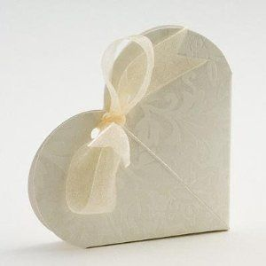 100 X Ivory Diamante Heart Wedding Favour Boxes Amazoncouk