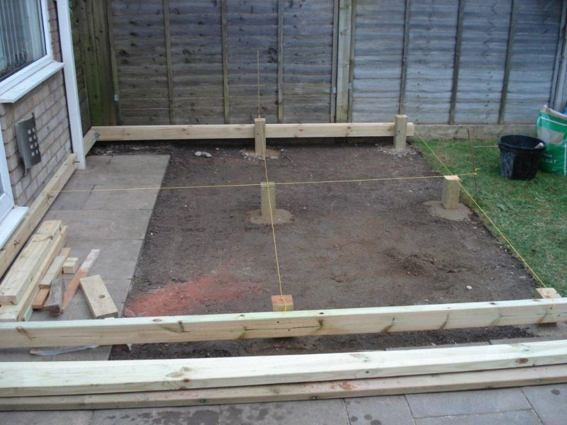 Q deck plus multi purpose post 85 x 85mm for use in ground contact garden decking - Suitable materials for decking ...
