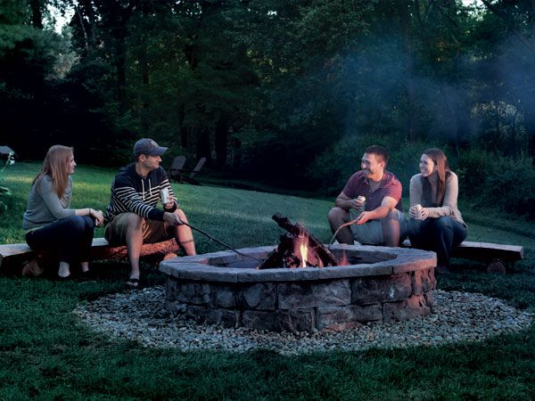 With This Masonry Fire Pit Plan You Can Skip The Concrete