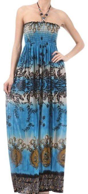 Floral Smocked Dress in Blue or  Magenta, Under $30 Def Planet