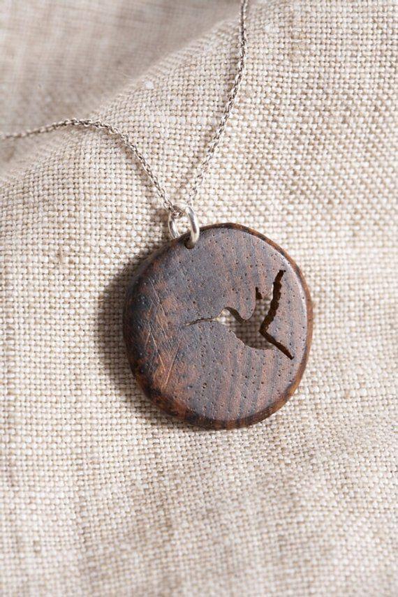 Wooden Hummingbird Pendant