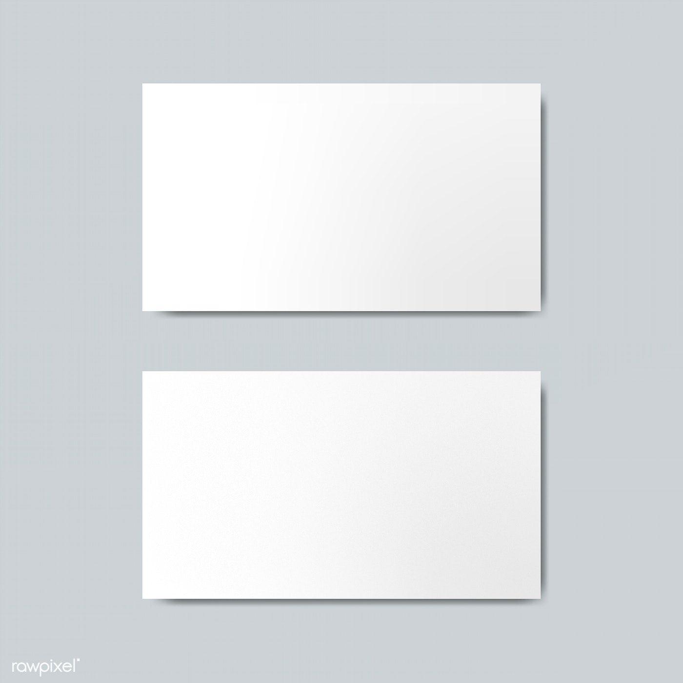 Download Premium Illustration Of Blank Business Card Design Mockup Vector Business Card Mock Up Blank Business Cards Free Business Card Mockup