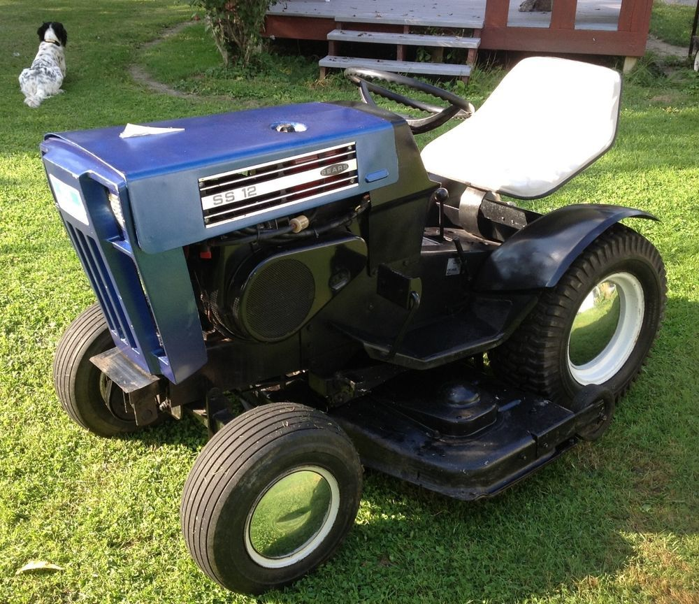 Sears Super 12 Garden Tractor : Vintage sears super tractor with quot mower
