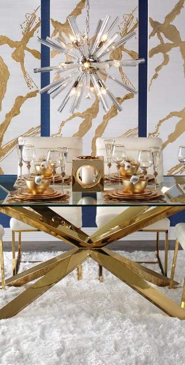 Estella Dining Gold Dining Room Dining Room Interiors