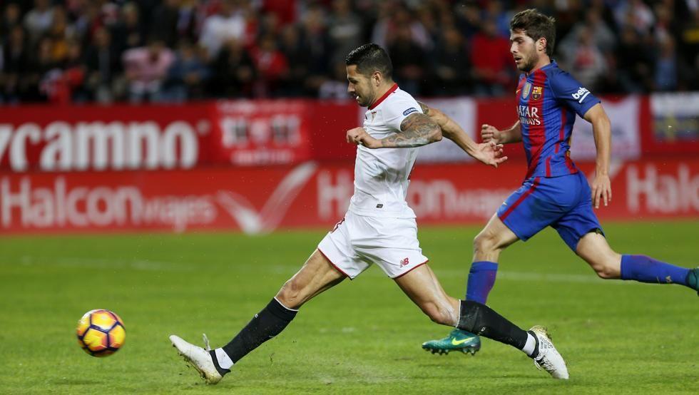 El centrocampista del Sevilla, Victor Machín