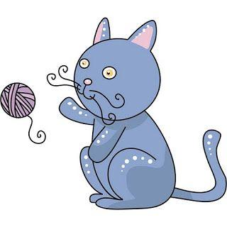 Dibujos de gatos jugando