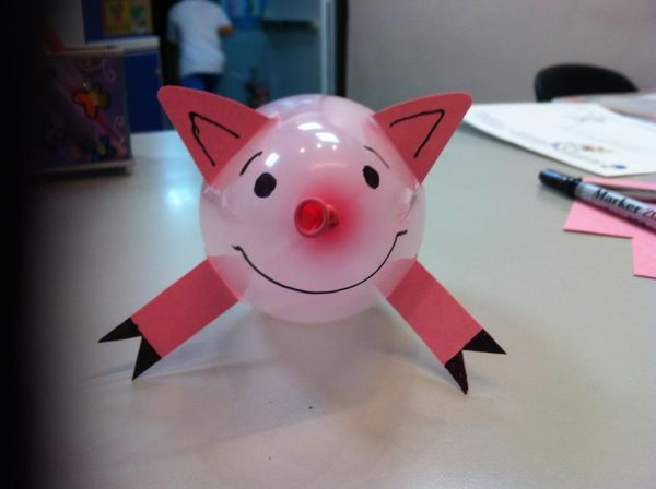Balloon Pig Craft