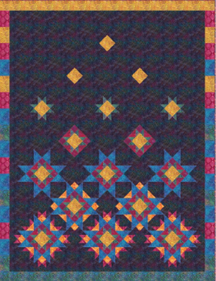 Easy twin quilt pattern. Falling Stars Quilt Pattern QN-045 by The ... : the quilting needle - Adamdwight.com