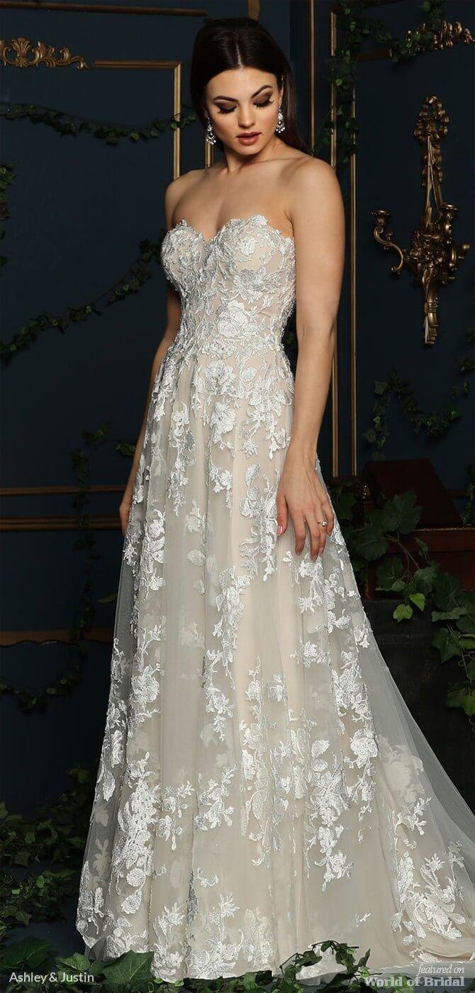 Sweetheart strapless wedding dress  Ashley u Justin Fall  Bridal Collection  wedding gown
