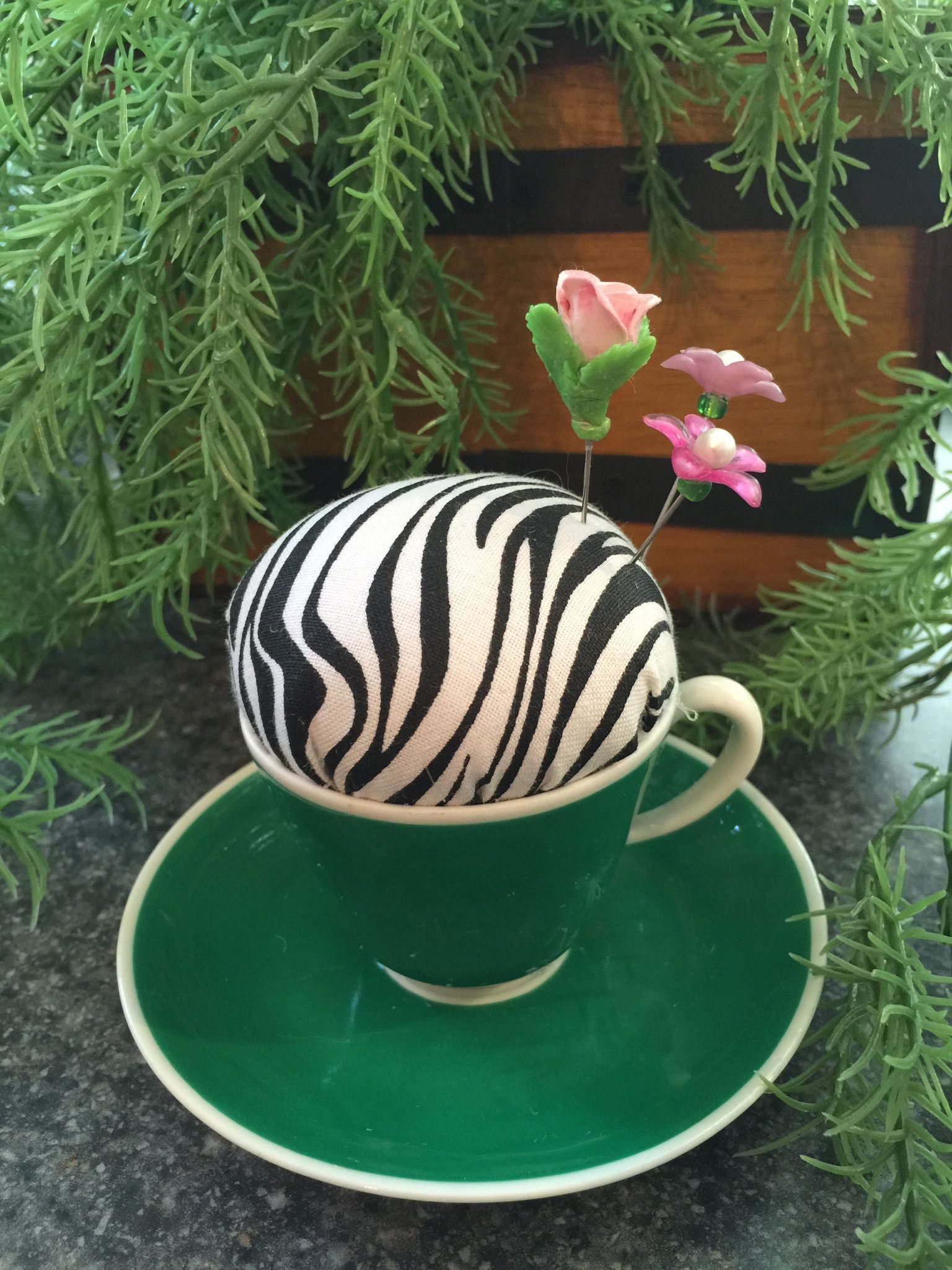 Zebra Print Pincushion