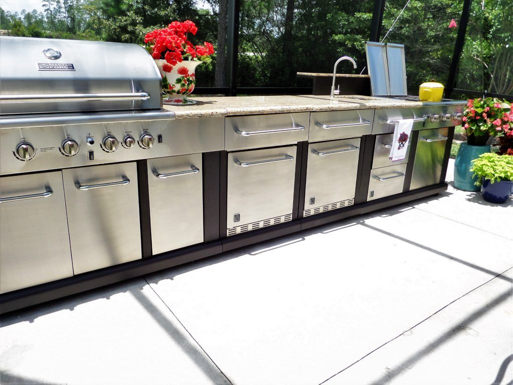 master forge 5-burner modular gas grill | bbq outdoor kitchen in