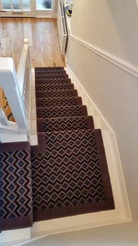 Best Axminster Carpets Funky Geometric Gorgeous Plum Stair 400 x 300