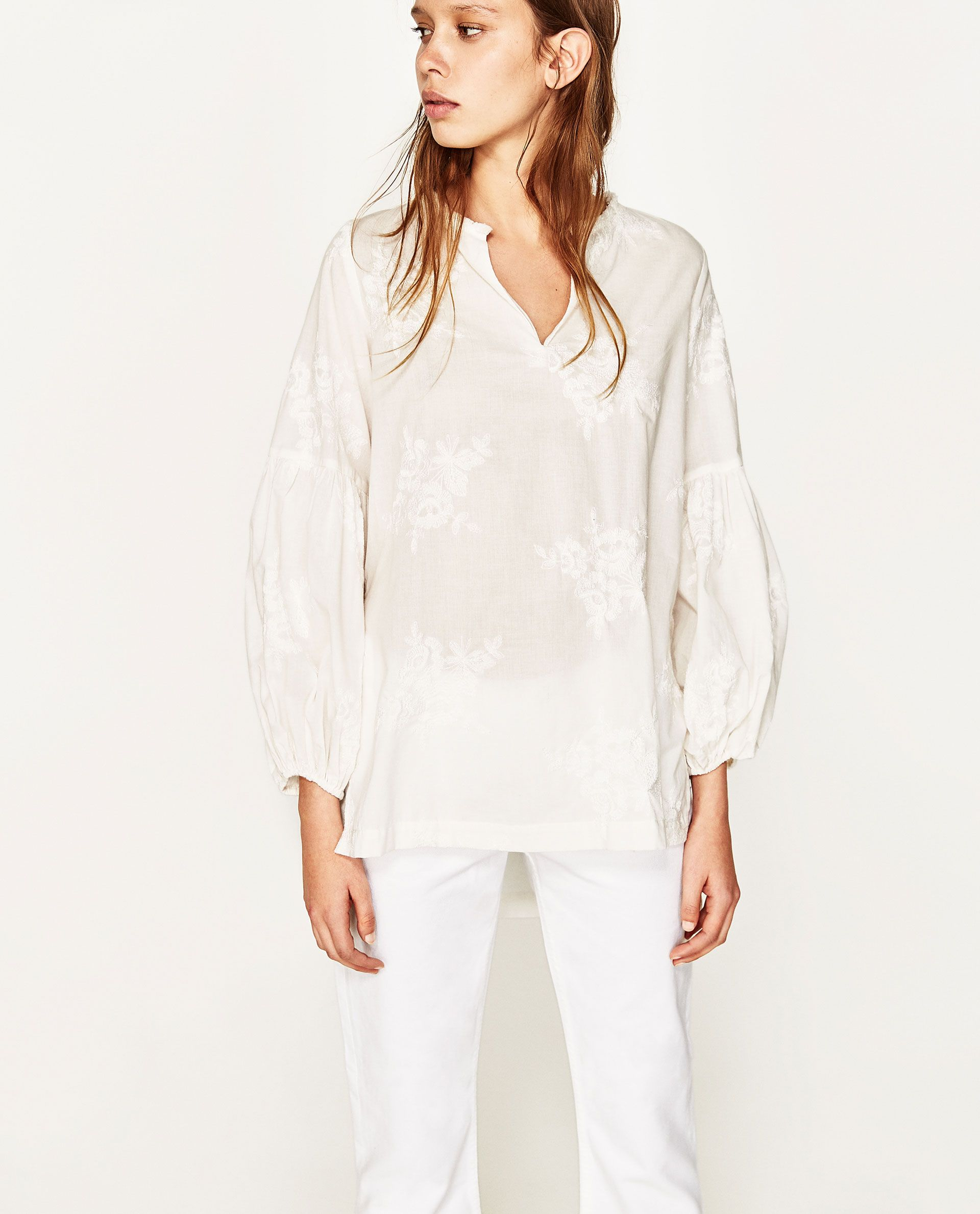 EMBROIDERED BLOUSE - NEW IN