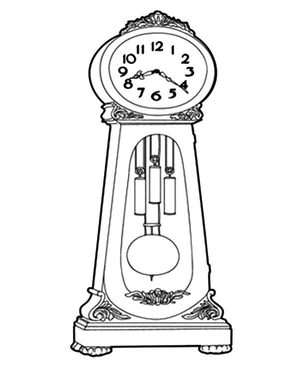 Grandfather Clock How To Draw Grandfather Clock Coloring Pages