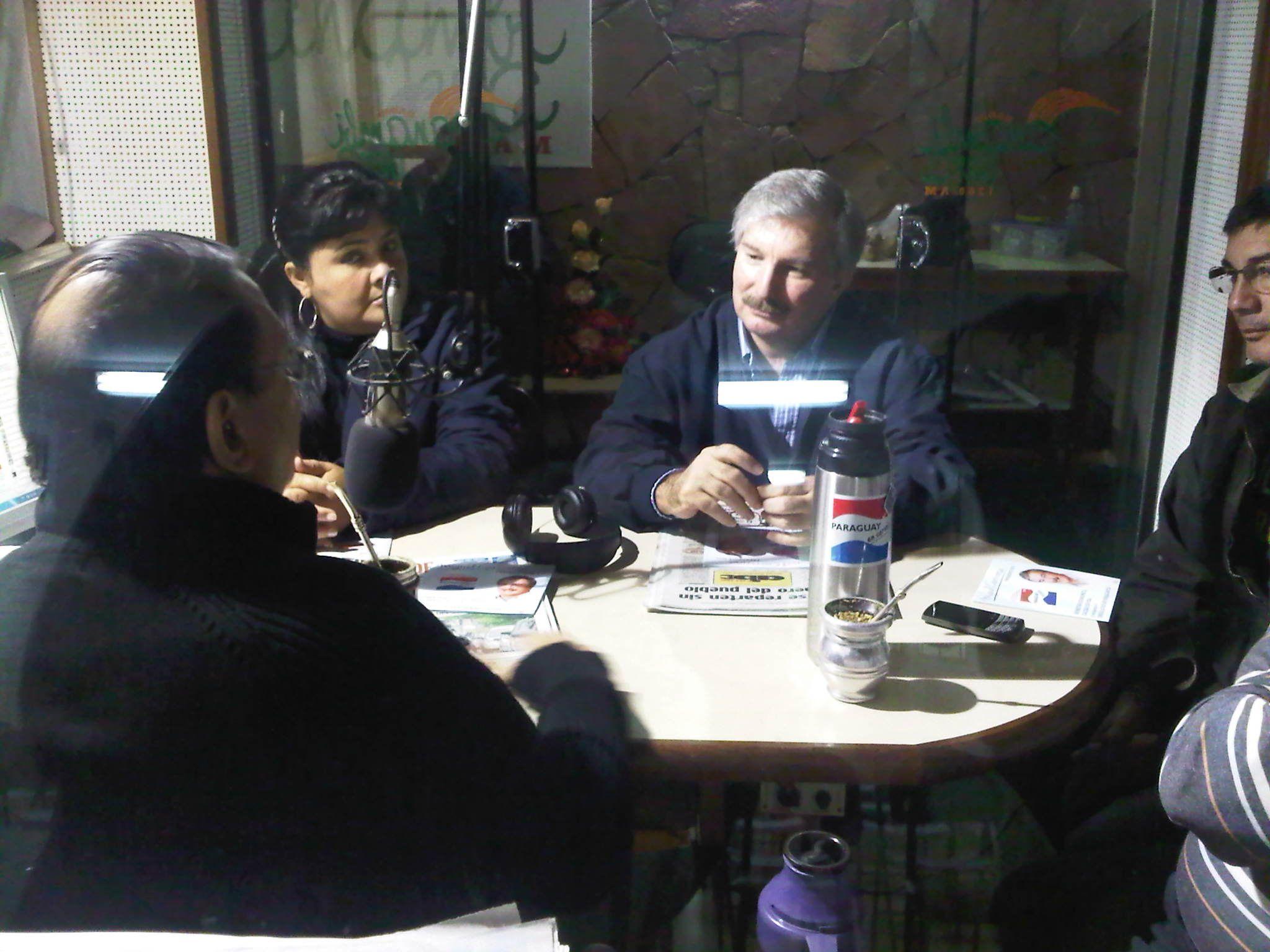 En Villarrica en la Radio Panambi Vera
