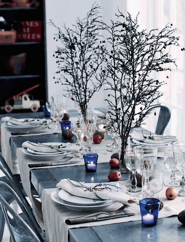 Holiday Table ~ Nature Inspired