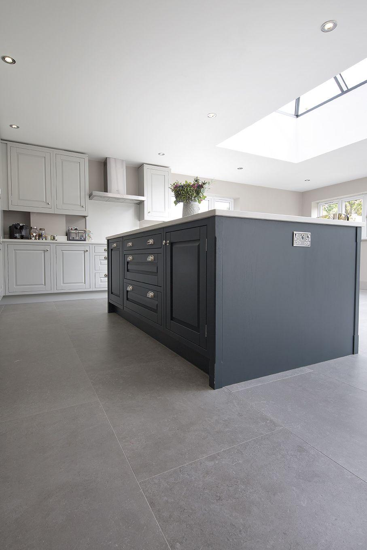 English Grey Porcelain Stone Tiles Porcelain Tiles Kitchen Island Makeover Grey Kitchen Tiles Stylish Kitchen