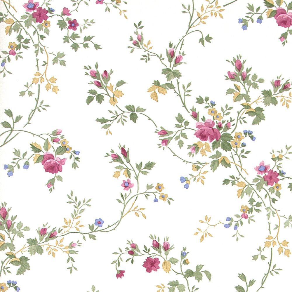Papel pintado floral papel pintado petits motifs - Papel de pared ...
