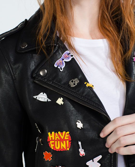 Image 7 of FAUX LEATHER BADGE JACKET from Zara