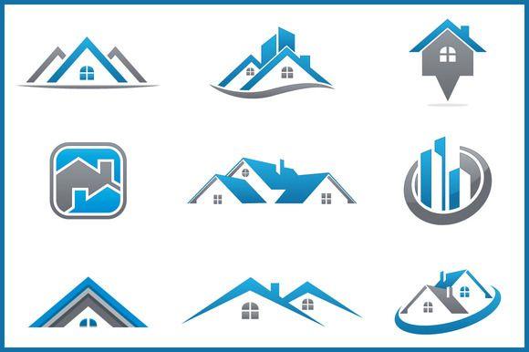 Real Estate Bundle: 9 Logos | Logos, Creative and Logo design