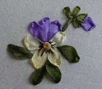 Silk Ribbon Embroidery: Tutorial - Viola