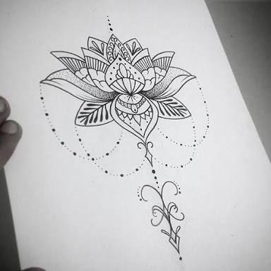 Flor De Lotus Desenho Google Search Tattoo Ideas