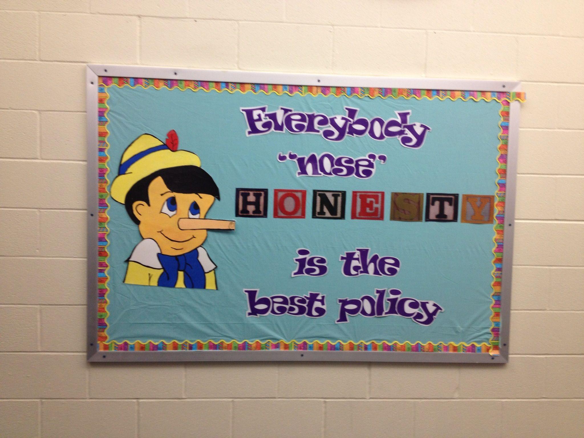 Honesty Bulletin Board