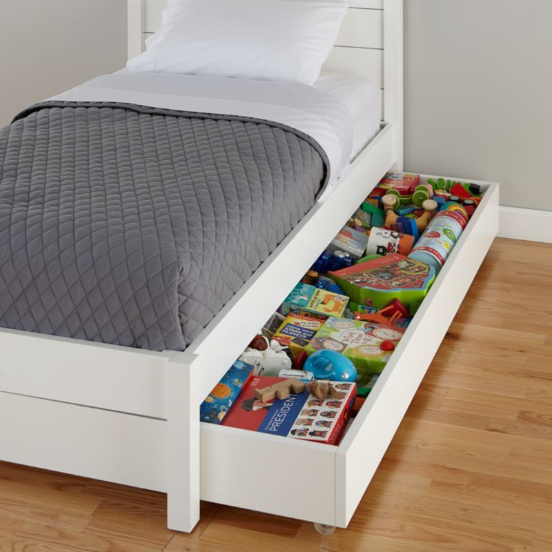 Parke White Trundle Bed
