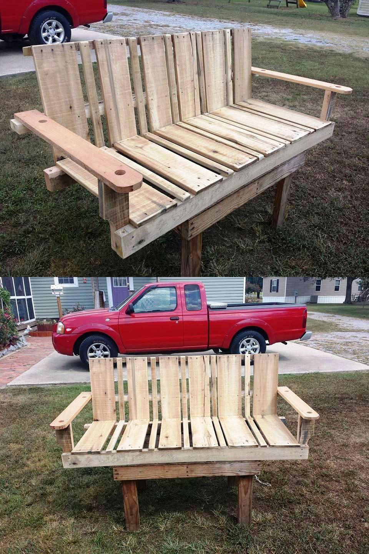 Sturdy Hand Built Pallet Swing Seat   30 DIY Pallet Ideas For DIY Home Decor