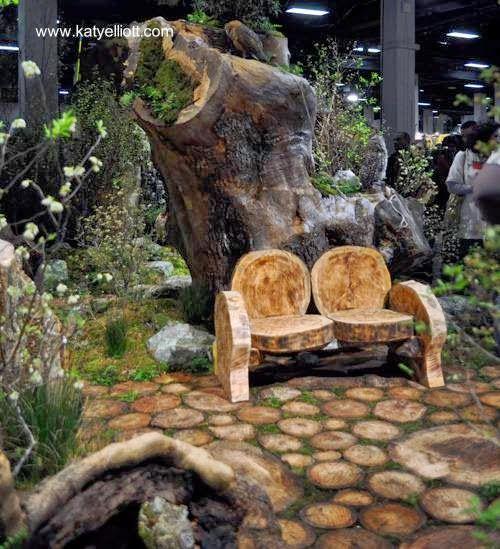 Patios Troncos Jardines Jardines Rústicos Y Tocones