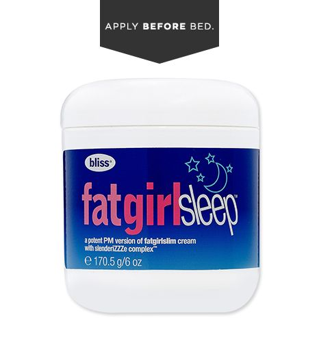Into aromatic fragrances? The rich lavender scent of Bliss' Fat Girl Sleep ($36) is relaxing, while red algae extract helps reduce water retention under skin and sacred lotus extract calms inflammation. Try it with Fat Girl Slim ($36), which does the same job during the day, thanks to encapsulated caffeine.