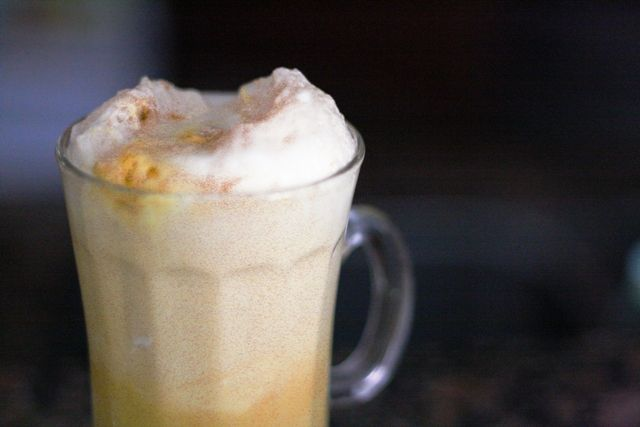 recipe for harry potter butterbeer, because I am a big dork and LOVE the books.
