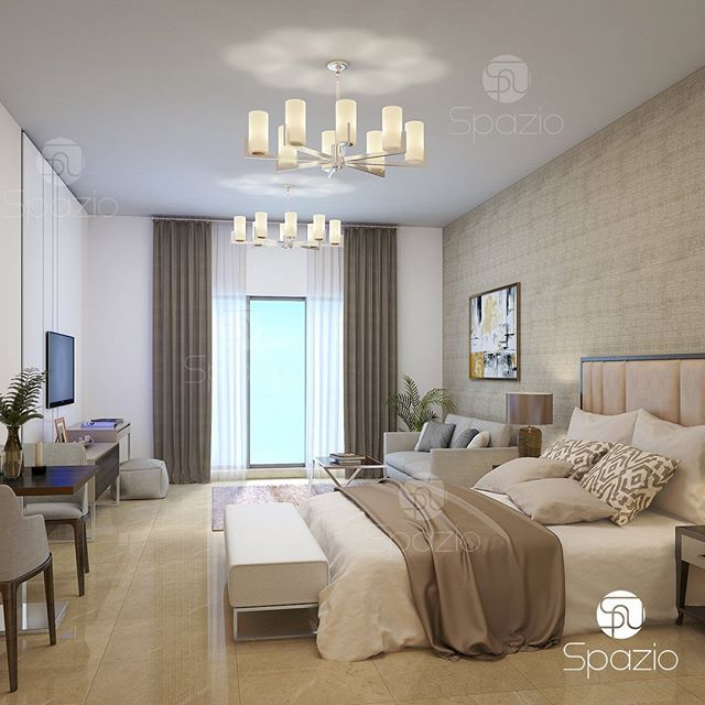 Master Bedroom Interior Design And Decor From Spazio Interior Design Company  In Dubai.
