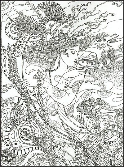 Myth magic an enchanted fantasy coloring book