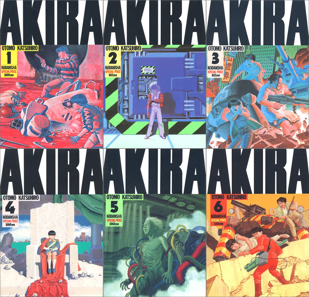 Akira Volumes 1 6 Complete Series Akira Manga Akira Anime Manga Covers