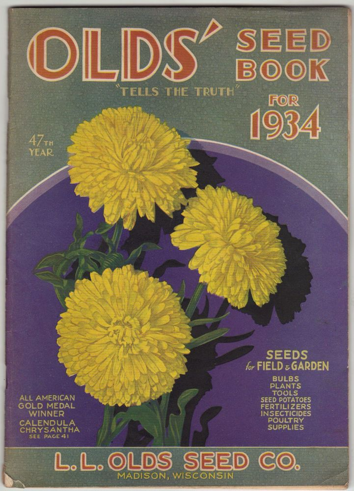 1934 L Olds Seed Co Plant Nursery Catalog Madison Wi Ercup Squash Llolds