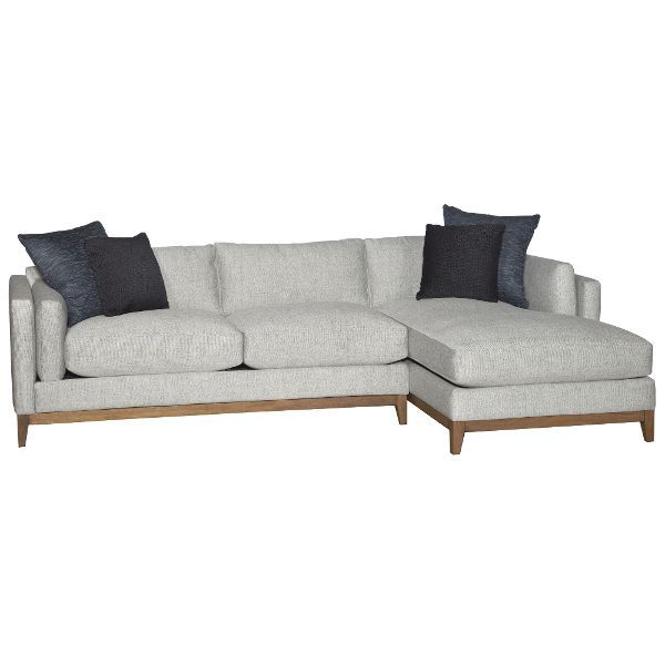 Stone Mid Century Modern 2 Piece Sectional Kelsey The Living