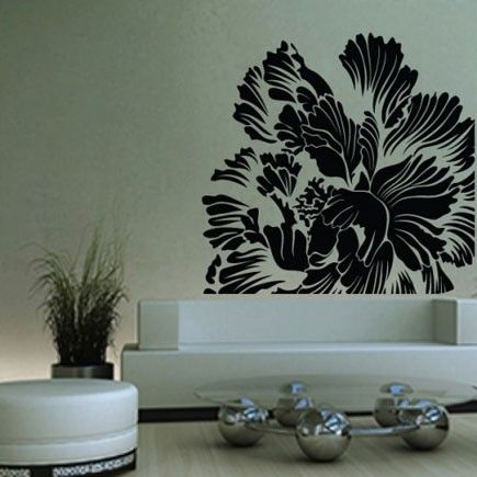 Gorgeous wall flower sticker.