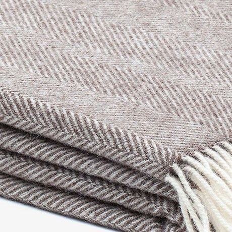 Gotland Wool Blanket - Brown by Urbanara | MONOQI