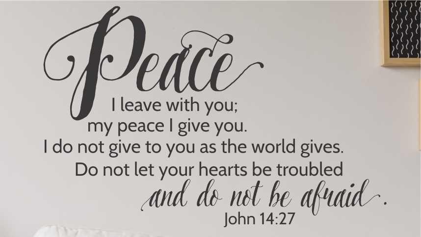 John 14:27 | Peace wall art, Bible verse wall art, Christian wall art