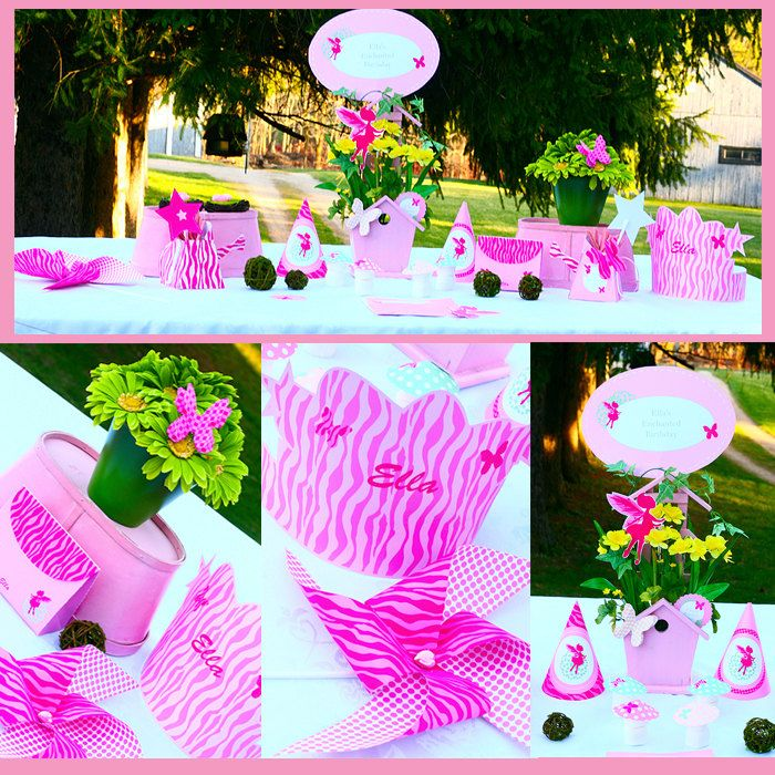 Instant Download Enchanted Garden Fairy Princess Butterfly