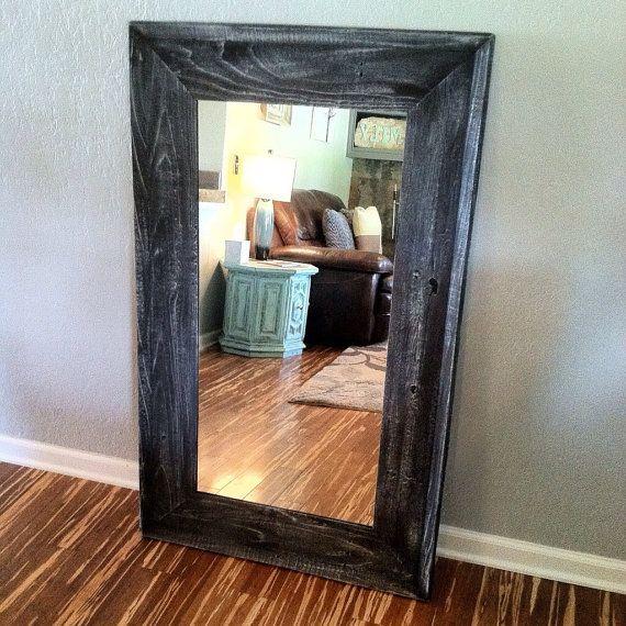 Rustic Home Decor, Reclaimed Wood Mirror, Mirror, Floor Mirror, Wood ...