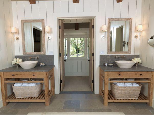 Progress On The Boys Bathroom Bathroom Farmhouse Style Small Farmhouse Bathroom House Bathroom