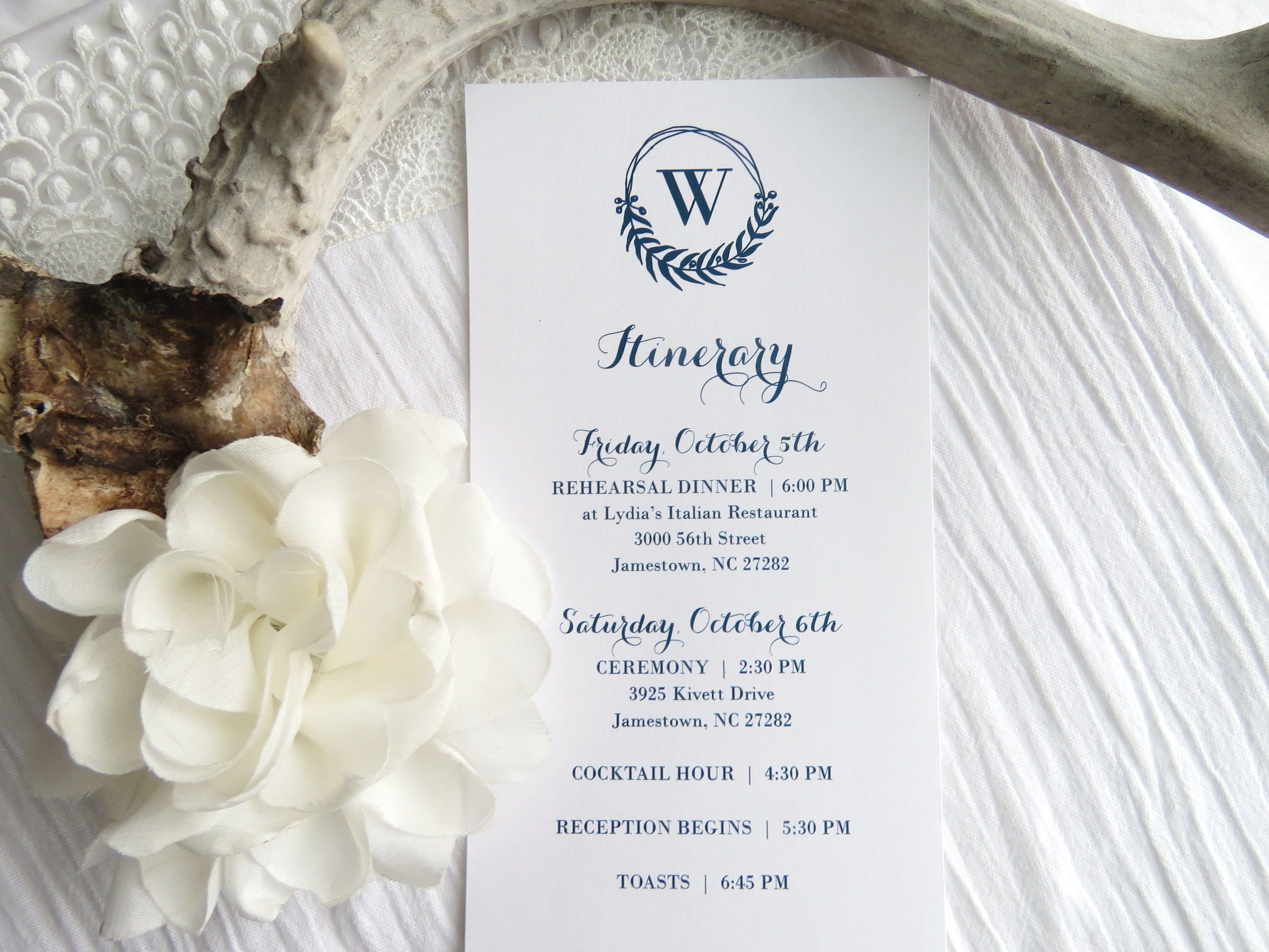 Wedding Itinerary Template | Instant Download PDF - Printable ...