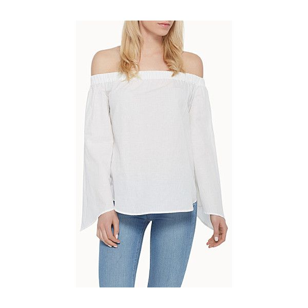 6646a1a68a989e Finders Keepers Bright Lights off-the-shoulder blouse ( 125) ❤ liked on
